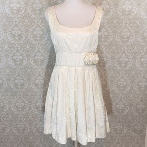 3/$20 {Speechless}Junior 11 Cream Jacquard Dress